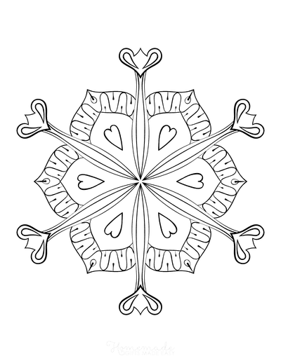Snowflake Coloring Page for Adults Intricate 16
