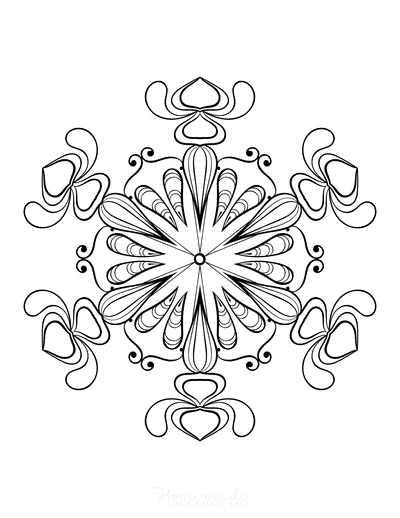 Snowflake Coloring Page for Adults Intricate 17