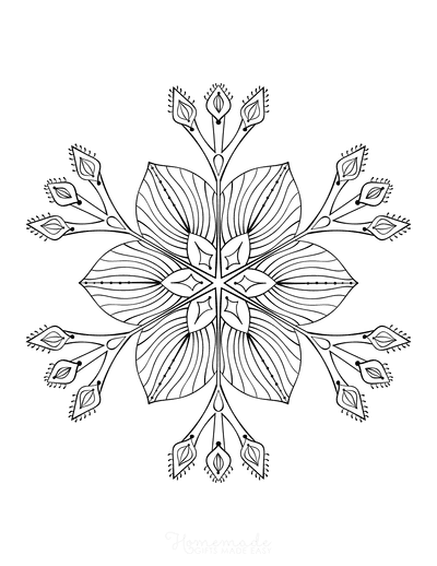 Snowflake Coloring Page for Adults Intricate 18