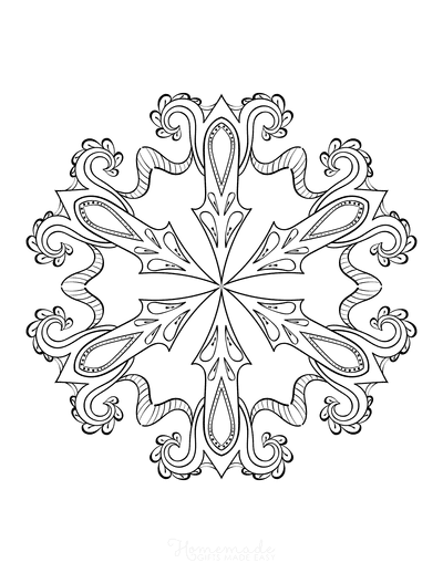 Snowflake Coloring Page for Adults Intricate 19