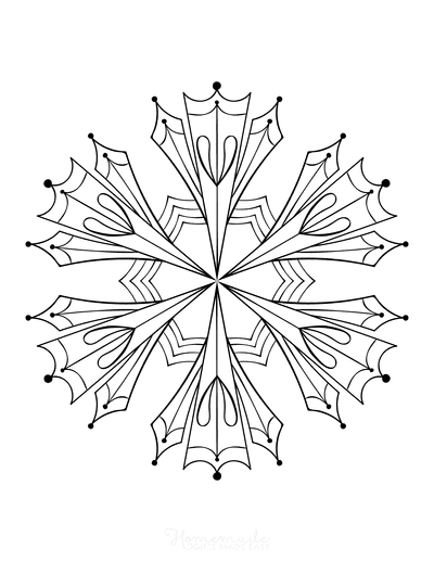 Snowflake Coloring Page for Adults Intricate 2