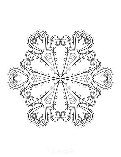 Snowflake Coloring Page for Adults Intricate 20