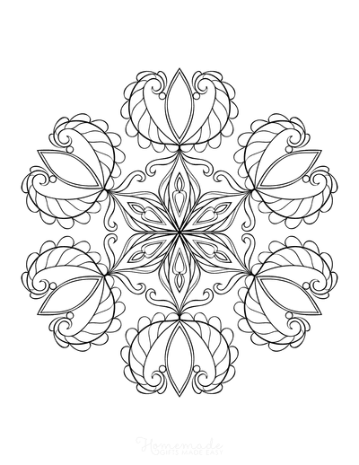 Snowflake Coloring Page for Adults Intricate 21
