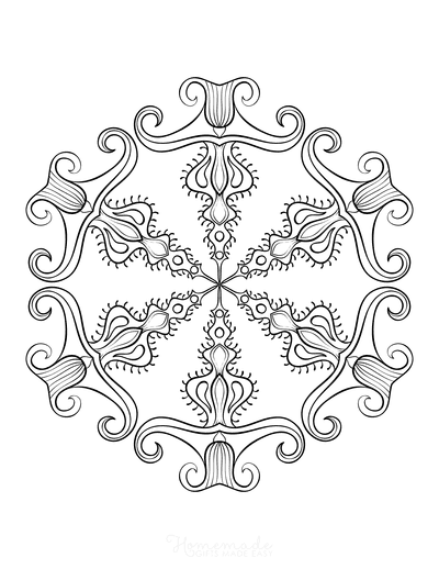 Snowflake Coloring Page for Adults Intricate 22