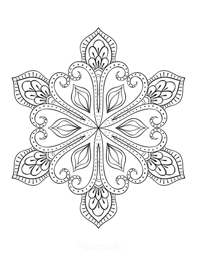 Snowflake Coloring Page for Adults Intricate 23