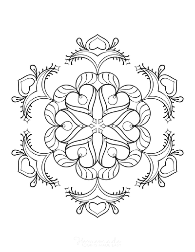 Snowflake Coloring Page for Adults Intricate 24