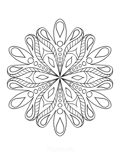 Snowflake Coloring Page for Adults Intricate 25