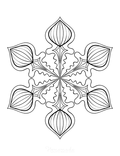 Snowflake Coloring Page for Adults Intricate 3