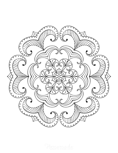 Snowflake Coloring Page for Adults Intricate 4