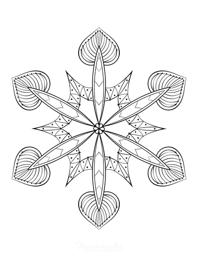 Snowflake Coloring Page for Adults Intricate 5