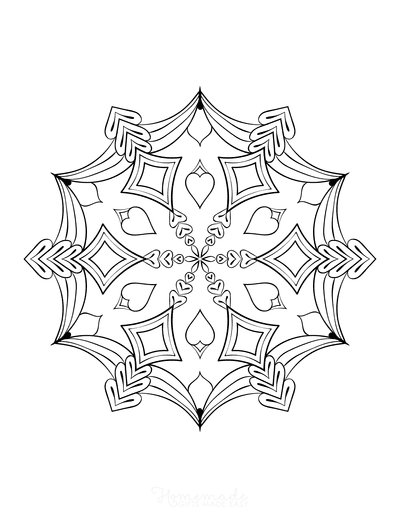 Snowflake Coloring Page for Adults Intricate 7