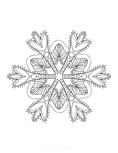 Snowflake Coloring Page for Adults Intricate 8
