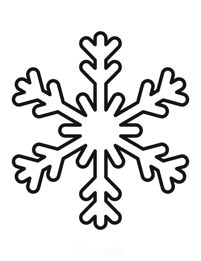 Snowflake Coloring Page Simple Outline 12