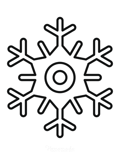 Snowflake Coloring Page Simple Outline 20