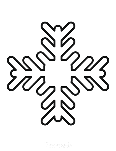 Snowflake Coloring Page Simple Outline 25