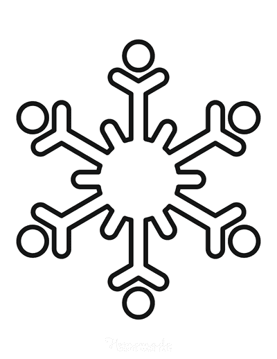Snowflake Coloring Page Simple Outline 31
