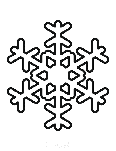 Snowflake Coloring Page Simple Outline 35