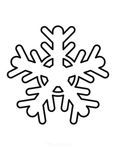 Snowflake Coloring Page Simple Outline 36
