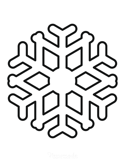 Snowflake Coloring Page Simple Outline 4