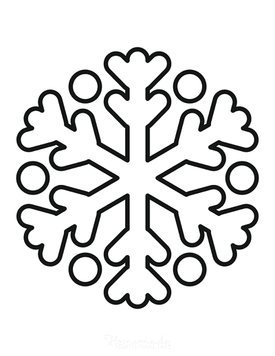 Snowflake Coloring Page Simple Outline 5