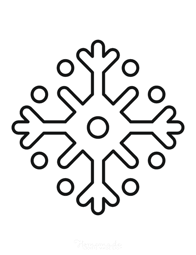 Snowflake Coloring Page Simple Outline 7