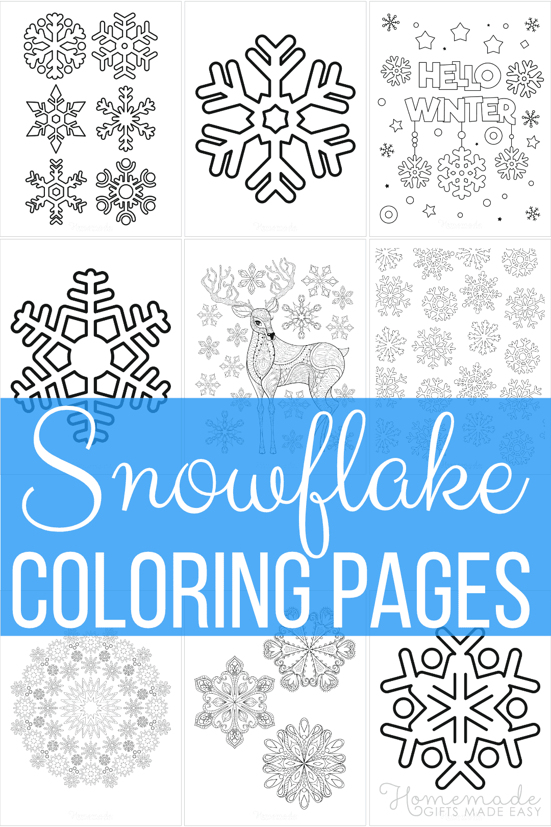 Printable Christmas Snowflake Coloring Page