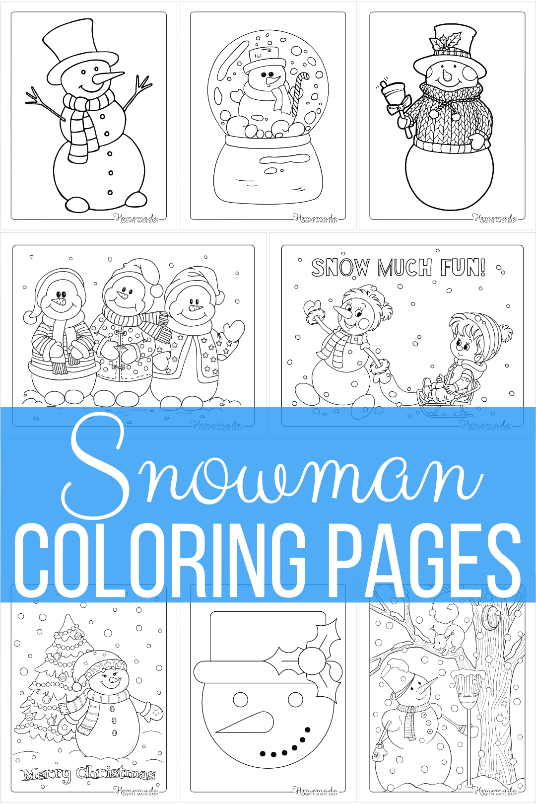 Free Printable Snowman Coloring Pages | 60+ Designs