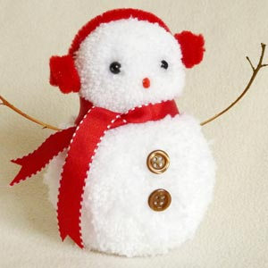 pom pom snowman craft ornament