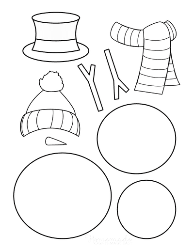 Snowman Template Build Your Own