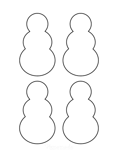 Snowman Template Outline Small