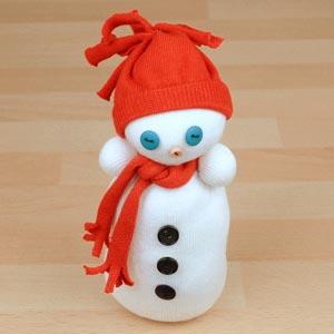 sock snowman thumb