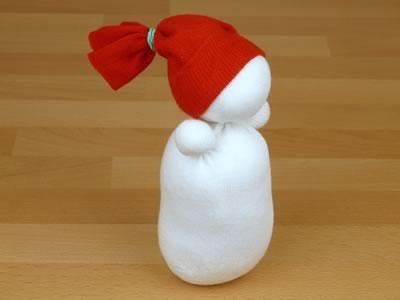 sock snowman - trimmed beanie