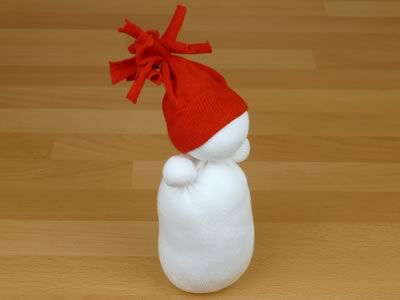 sock snowman - beanie pom pom