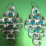 soda can tab earrings