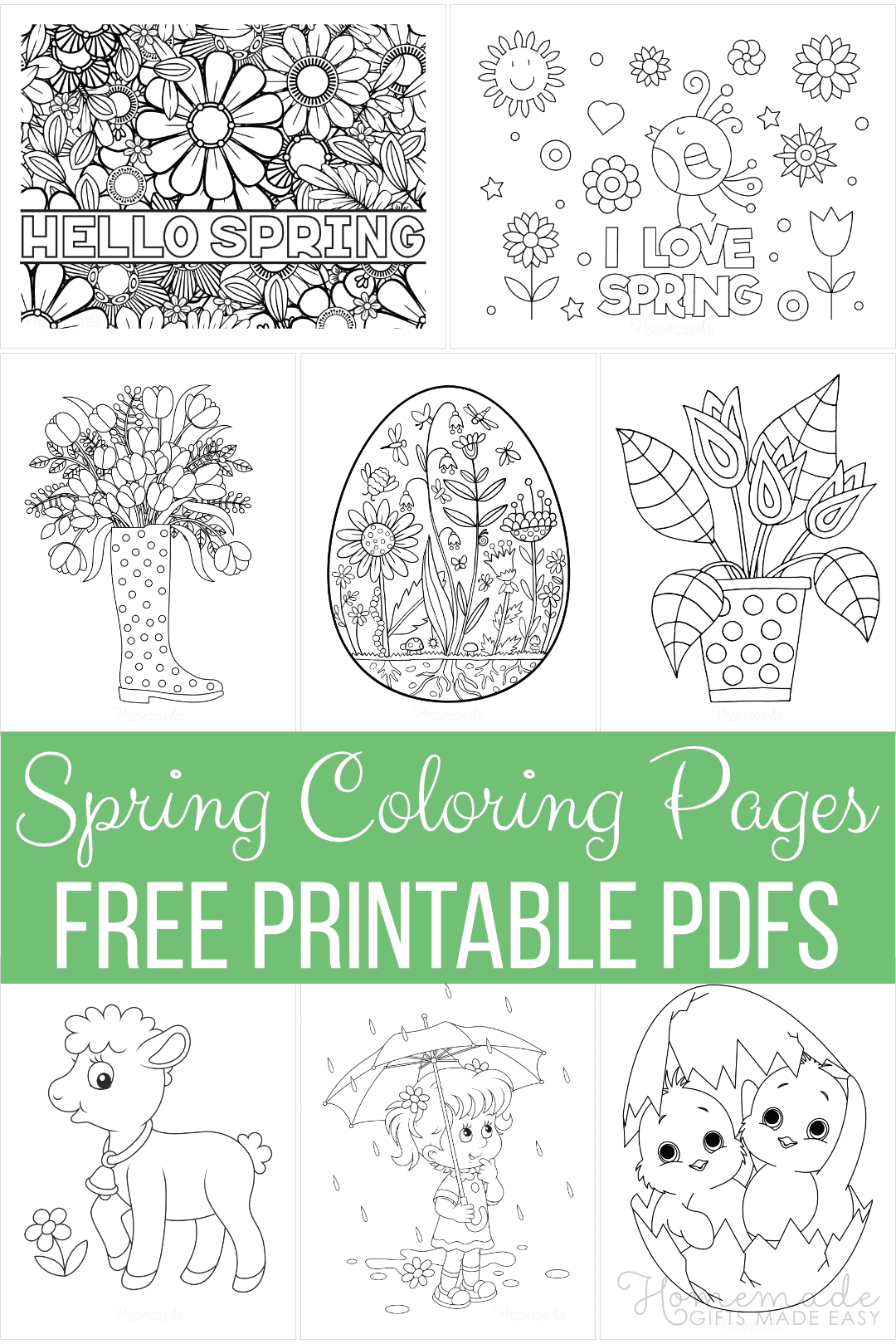 65 Spring Coloring Pages Free Printable Pdfs