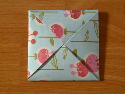 Beautiful origami envelope folding instructions and video square origami envelope closed mightylinksfo