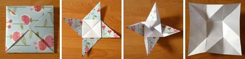 Beautiful origami envelope folding instructions and video square origami envelope mightylinksfo Choice Image