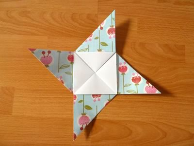 Square Origami Envelope Semi Open