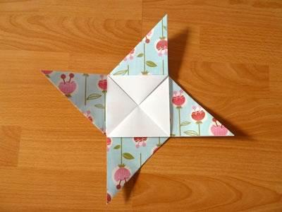 square origami envelope semi-open