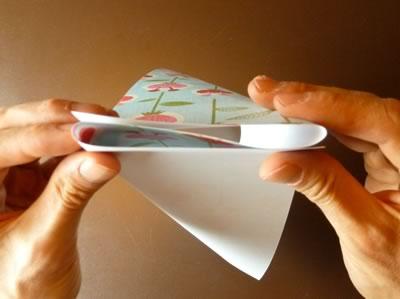 origami envelope bend into z shape