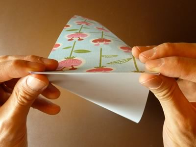origami envelope squash z flat