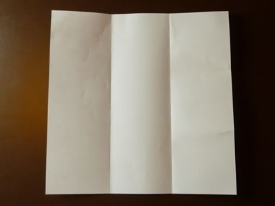 origami envelope folded in thirds