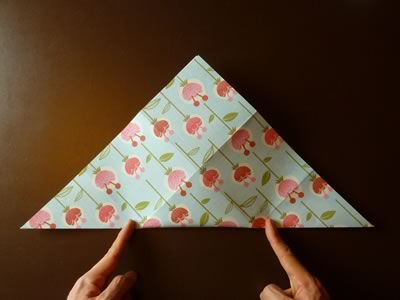 origami envelope fold in half diagonally