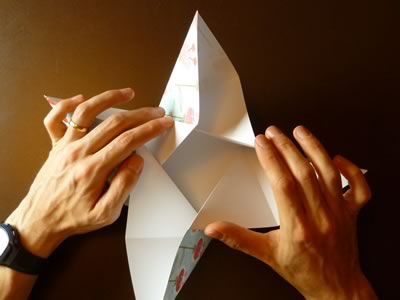 origami envelope bend into bowl shape