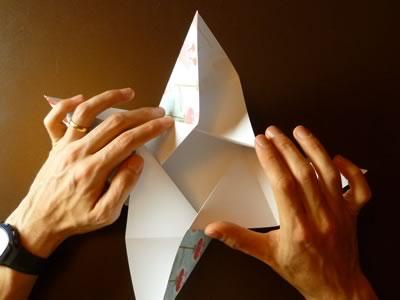 origami envelope bend into bowl shape