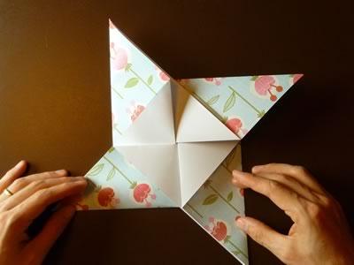 origami envelope collapse into pinwheel