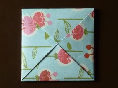 origami envelope tuck in last corner of pinwheel