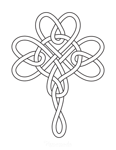 St Patricks Day Coloring Pages Celtic Shamrock