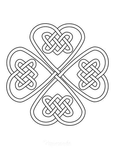 St Patricks Day Coloring Pages Celtic Shamrock Knot