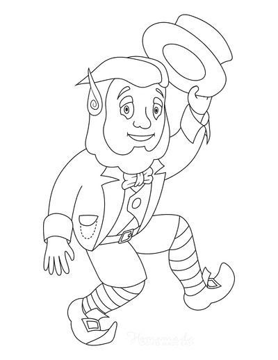 St Patricks Day Coloring Pages Leprechaun Dancing